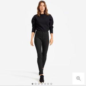 Everlane High-Rise Black Skinny Jean - 26 Ankle